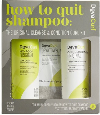 DevaCurl How to Quit Shampoo The Cleanse & Condition Curl Kit