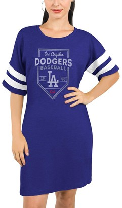 Majestic Los Angeles Dodgers Threads Women's Tri-Blend Short Sleeve T-Shirt Dress - Royal