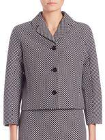 Michael Kors Cropped Jacquard Jacket