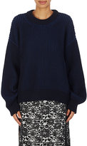 Paco Rabanne Women's Chunky Rib-Knit Cotton Sweater