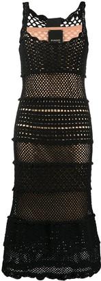 Pinko Crochet Open Knit Dress