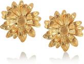 Alex Monroe 22-karat gold-plated chrysanthemum stud earrings