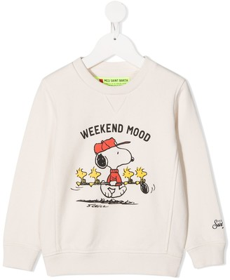 Mc2 Saint Barth Kids Slogan Sweatshirt
