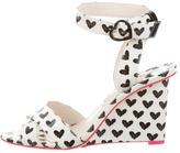 Sophia Webster Patent Wedge Sandals