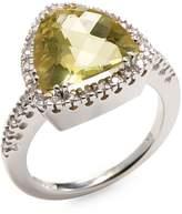 Effy Women's 14K White Gold Diamond & Quartz Ring