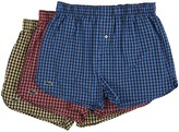 Lacoste Authentics Gingham Heather Woven Boxers