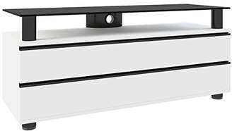 "VCM Premium TV Lowboard Furniture Rack Table Shelf Cabinet 120 cm ""Dasano"" with Overboard + 2 Drawers Carcass White"
