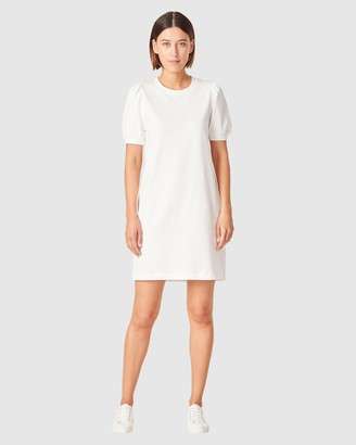 French Connection Women's Dresses - Puff Sleeve Sweat Dress - Size One Size, M at The Iconic