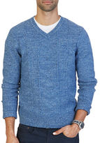 Nautica Multi-Stitched V-Neck Sweater