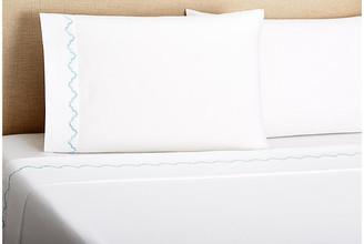 Belle Epoque Francesa Scalloped Sheet Set - Lt Bl Queen