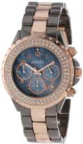 August Steiner Women's Crystal Mother-of-Pearl Chronograph Watch with Two-Tone Bracelet AS8031TTR