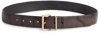 AllSaints Logo Leather Belt