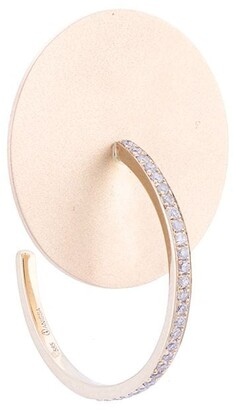 Anissa Kermiche Crystal Embellished Disc Earring