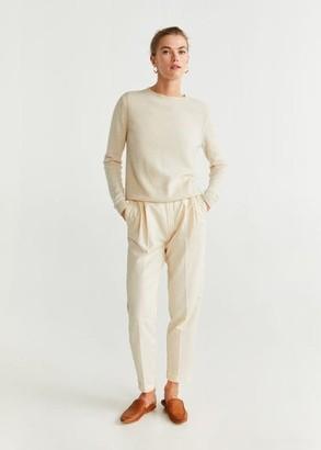 MANGO 100% cashmere sweater light/pastel grey - S - Women