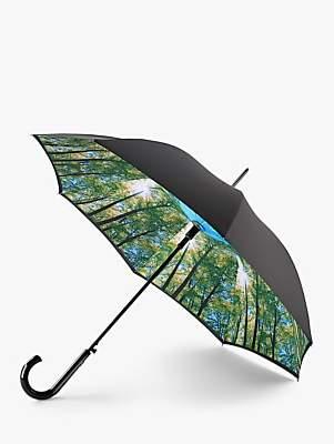 Fulton Sunburst Print Walking Umbrella, Black/Multi