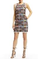 Nicole Miller Jessi Panama Tiles Shift Dress
