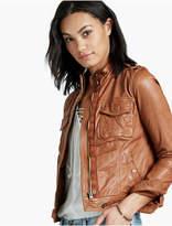 Lucky Brand Leather Patch Pocket Jacket