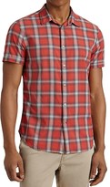 John Varvatos Plaid Slim Fit Button Down Shirt
