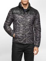 Calvin Klein One Camouflage Print Nylon Puffer Jacket