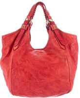 Givenchy Distressed Leather Sacca Hobo