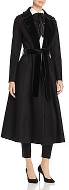 Harris Wharf Velvet-Trim Wool Coat