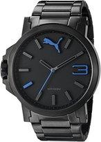 Puma Unisex PU103461010 Ultrasize Metal Black Blue Analog Display Watch
