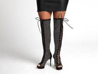 Jlo Jennifer Lopez Madia Over The Knee Platform Boot