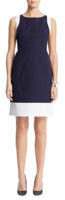 Anne Klein Color-Block A-Line Dress