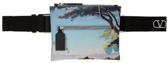 Valentino Multicolor Garavani VLogo Printed Crossbody Bag