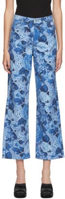 MSGM Blue Floral Jeans
