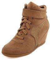 Charlotte Russe Rhinestone Studded Wedge Sneaker