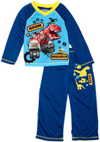 Komar Kids Blue Dino Trux Pajama Set - Toddler