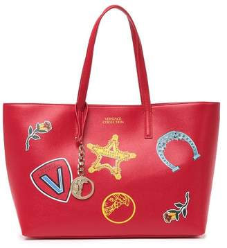 Versace Graphic Printed Saffiano Leather Tote
