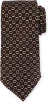 Isaia Circle Silk Twill Tie