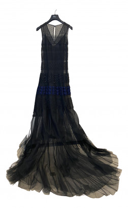 Christian Dior Black Polyester Dresses