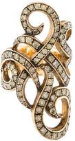 Loree Rodkin Diamond Swirl Ring