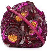 Jamin Puech sequinned flowers clutch