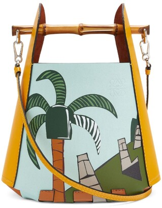 Loewe + Ken Price Leather Easter Island Bucket Bag