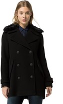 Tommy Hilfiger Fur Collar Wool Peacoat