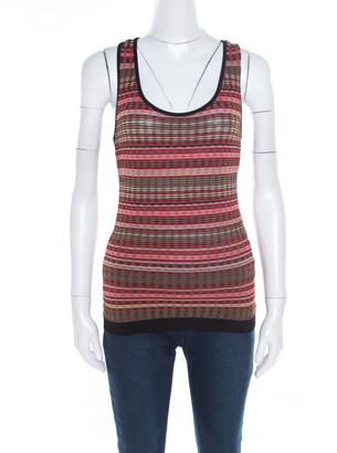 M Missoni Multicolor Patterned Knit Tank Top M