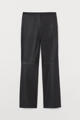 H&M Ankle-length Leather Pants