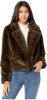 Apparis Tukio Faux Fur Moto Jacket (Violet) Women's Jacket