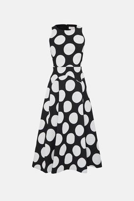 Coast Sleeveless Full Midi Spot Dress
