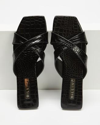 Billini - Women's Black Flat Sandals - Flynn - Size 8 at The Iconic