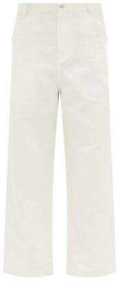 Raey Wide-leg Cotton And Linen-blend Trousers - Mens - Cream