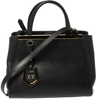 Fendi Black Leather Mini 2Jours Tote