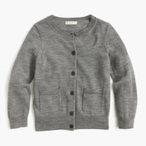 J.Crew Girls' classic merino cardigan sweater