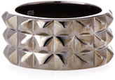 Stephen Webster Alchemy Rhodium-Plated Studded Band Ring, Size 11