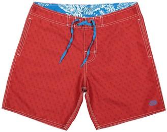 Panareha Opunoho Beach Shorts in Red