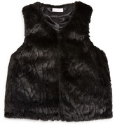 Design History Girls' Faux Fur Vest - Big Kid